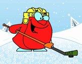 Pinguim jogando hóquei