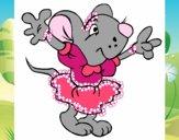 Rata com vestido