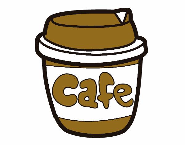 desenho de xícara de café pintado e colorido por usuário não