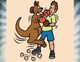 Desenho Canguro boxeador pintado por Craudia
