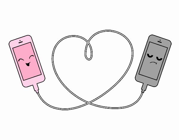 Desenho De Amor Celular Pintado E Colorido Por Usuário