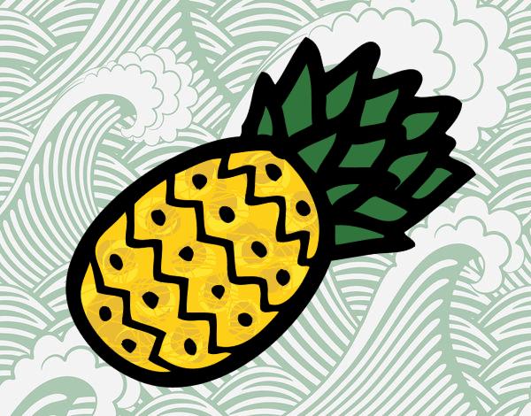 Desenho Ananás tropical pintado por Craudia