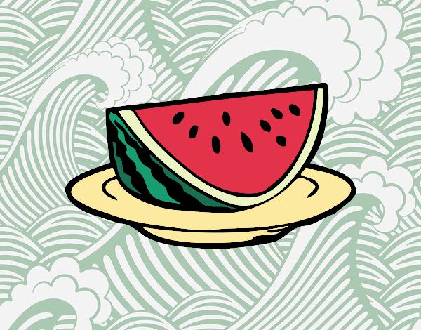 Desenho Bacia de melancia pintado por Craudia