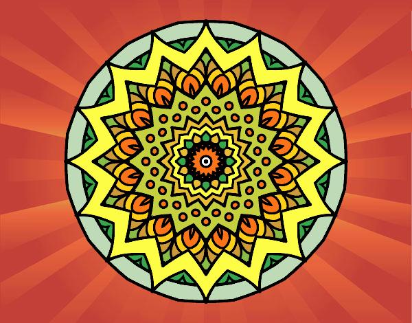 Desenho Crescente mandala pintado por Craudia