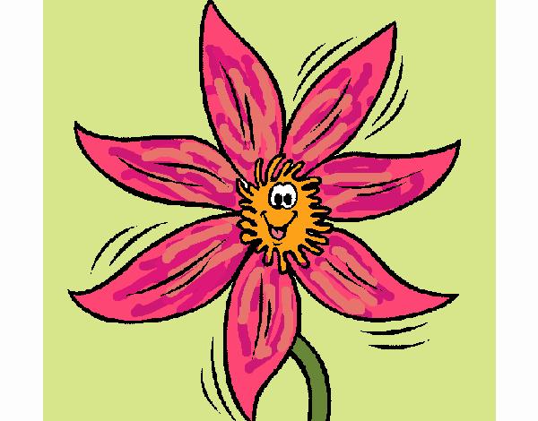 Desenho Flor 2a pintado por Craudia