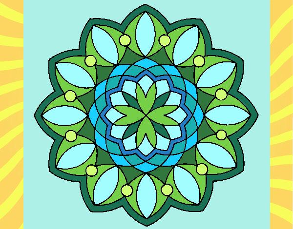 Desenho Mandala 20 pintado por Craudia