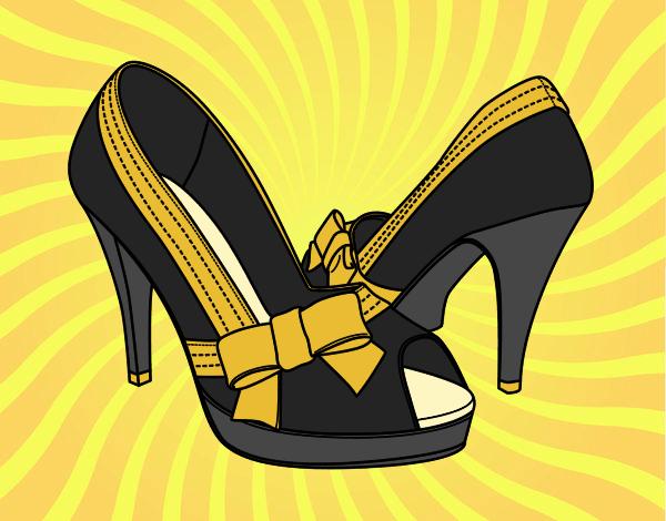 Desenho Sapatos com laço pintado por Craudia