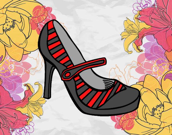 Desenho Sapatos de calcanhar sport pintado por Craudia