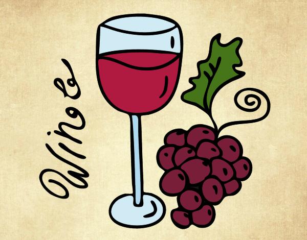 Desenho Vinho tinto pintado por Craudia