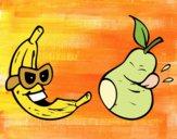 Desenho Frutas loucas pintado por Craudia