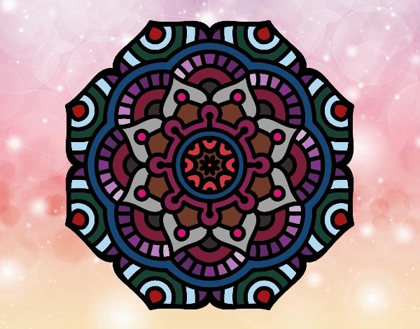 Mandala flor conceitual