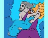 Desenho O rapto de Perséfone pintado por ceciliaz