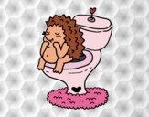 Desenho Porco-espinho no banheiro pintado por ImShampoo