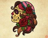 Desenho Tatuagem de Catrina pintado por Dri_