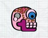 Desenho Uma caveira asteca pintado por m28castro