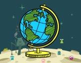Desenho O globo terrestre pintado por manuc