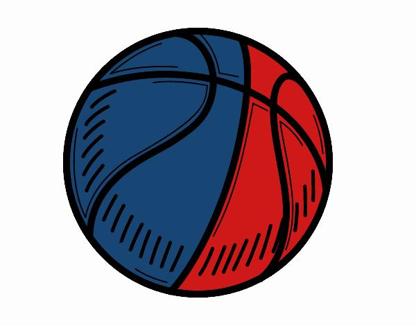 desenho de a bola de basquete pintado e colorido por usuário não