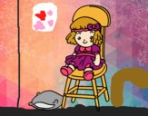 Desenho Boneca sentada pintado por zoi12
