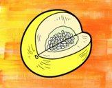 Desenho Melão de Galia pintado por dandas
