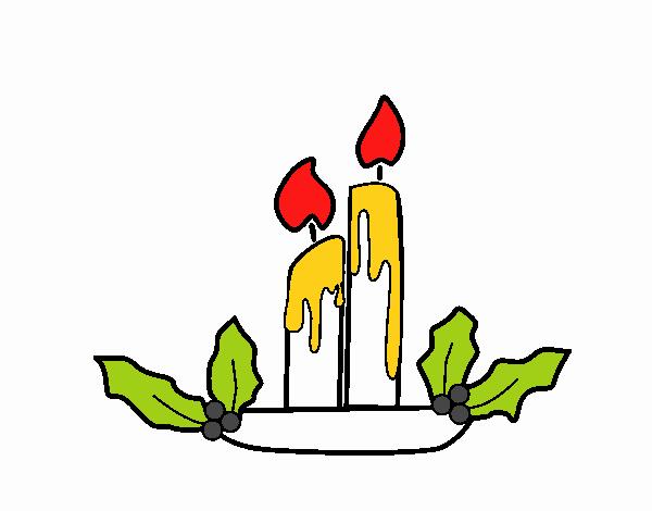 Desenho De Velas De Natal Pintado E Colorido Por Usuário