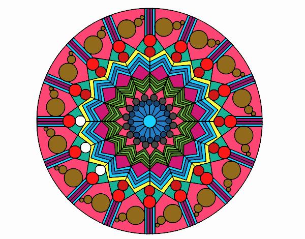 Mandala flor com círculos