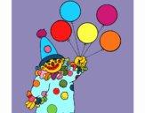 Palhaço com balões