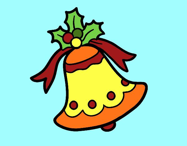 Desenho De Sino Natalino Pintado E Colorido Por Usuário