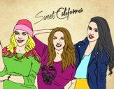 Desenho Alba Rocio i Sonia de Sweet California pintado por zoi12
