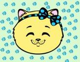 Desenho Cara de gatinha feliz pintado por Bianca99