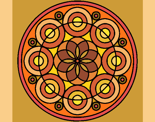 Desenho Mandala 35 pintado por ceciliaz
