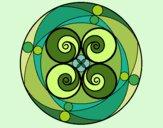 Desenho Mandala 5 pintado por leinha