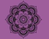 Desenho Mandala flor oriental pintado por JujuKB