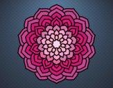 Desenho Mandala pétalas de flores pintado por rosalina