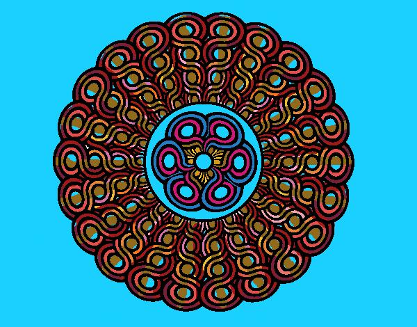 Desenho Mandala trançada pintado por ceciliaz