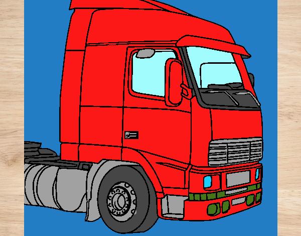 desenho de o caminhão top pintado e colorido por usuário não