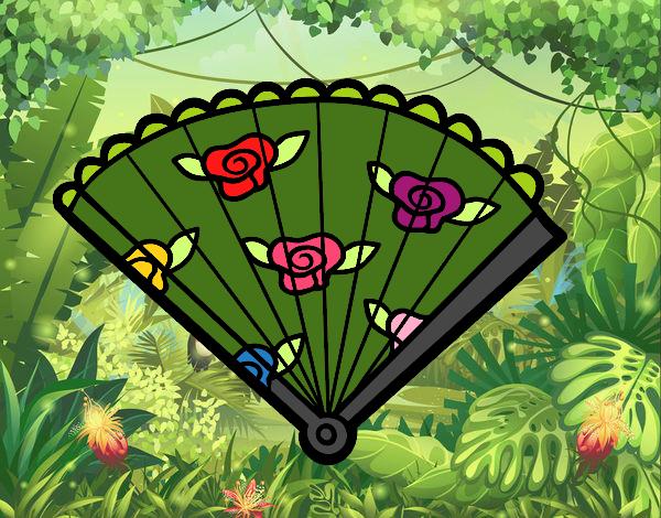 Desenho Leque floral pintado por Bianca99