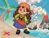 Desenho O menina pirata pintado por Craudia