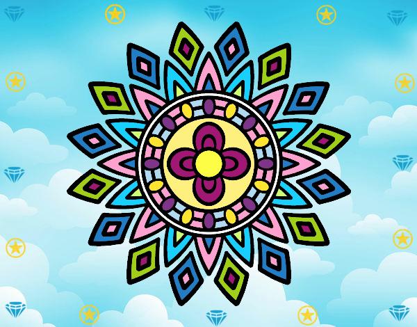 Desenho Mandala flashes pintado por Mayumicris