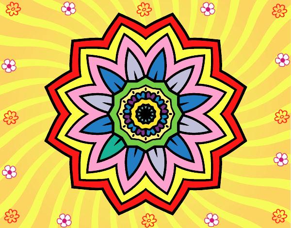 Desenho Mandala flores de girassol pintado por Mayumicris