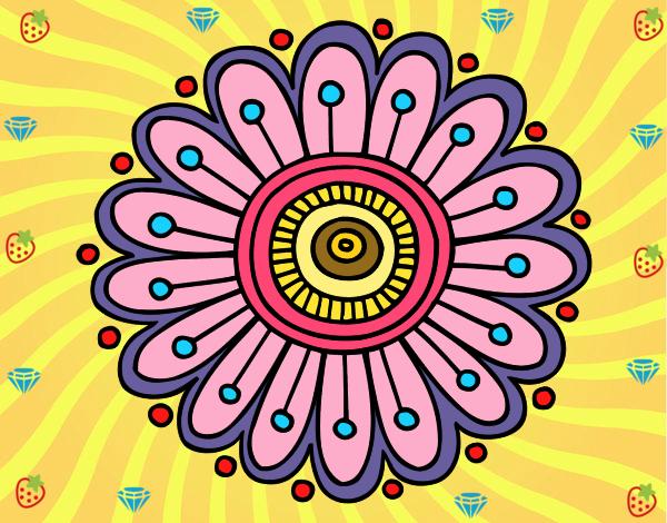 Desenho Mandala margarida pintado por Mayumicris