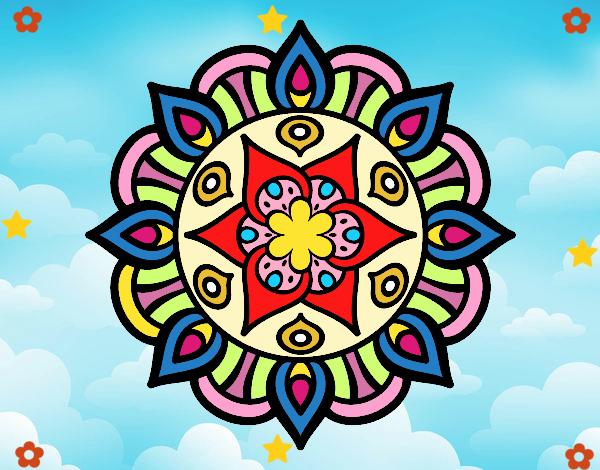 Desenho Mandala vida vegetal pintado por Mayumicris