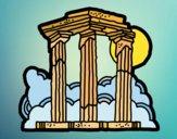 Desenho Templo de Zeus Olímpico pintado por Craudia