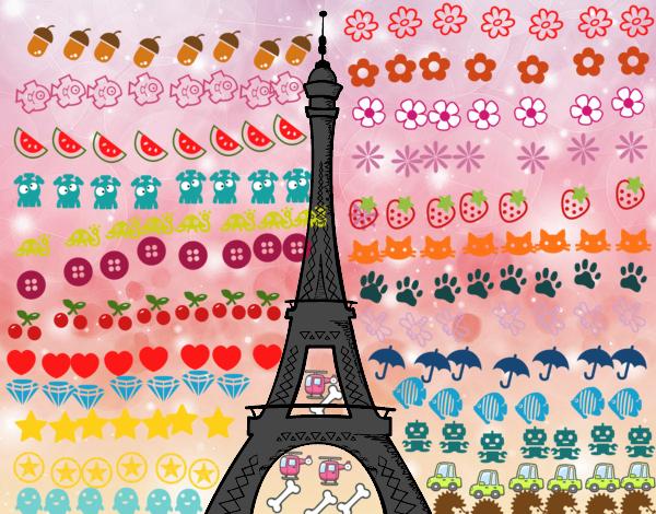 Desenho De A Torre Eiffel Pintado E Colorido Por Usuário