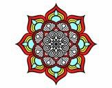 Mandala flor de fogo