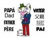 Pai e filho com o chapéu