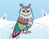 Desenho Coruja do inverno pintado por Billa
