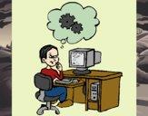 Informático a pensar