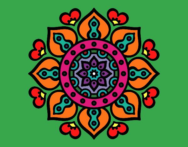 Mandala Corações árabes