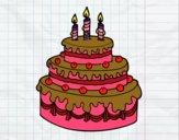 Desenho Torta de Aniversário pintado por ketelly