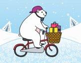 Desenho Urso ciclista pintado por ImShampoo
